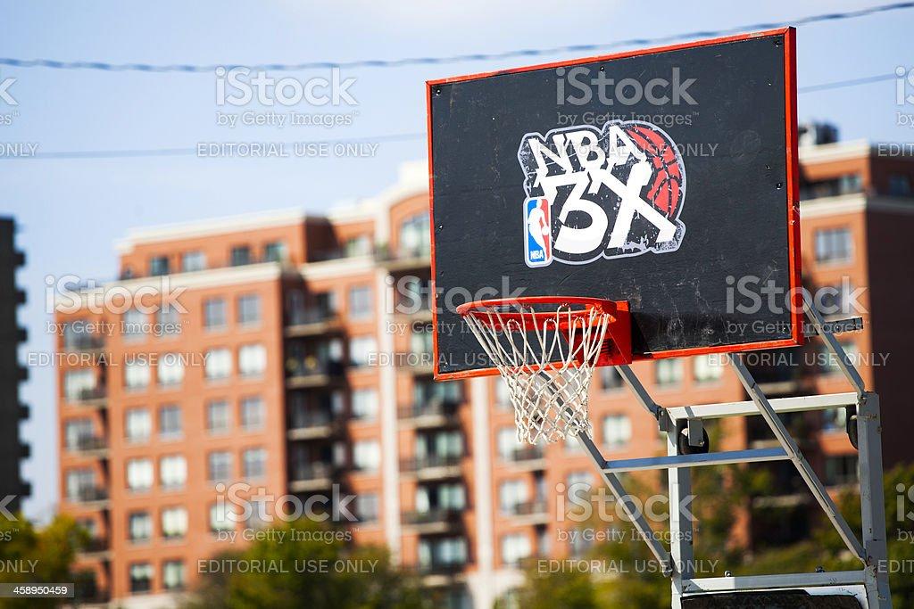 NBA 3 x canasta de baloncesto - foto de stock