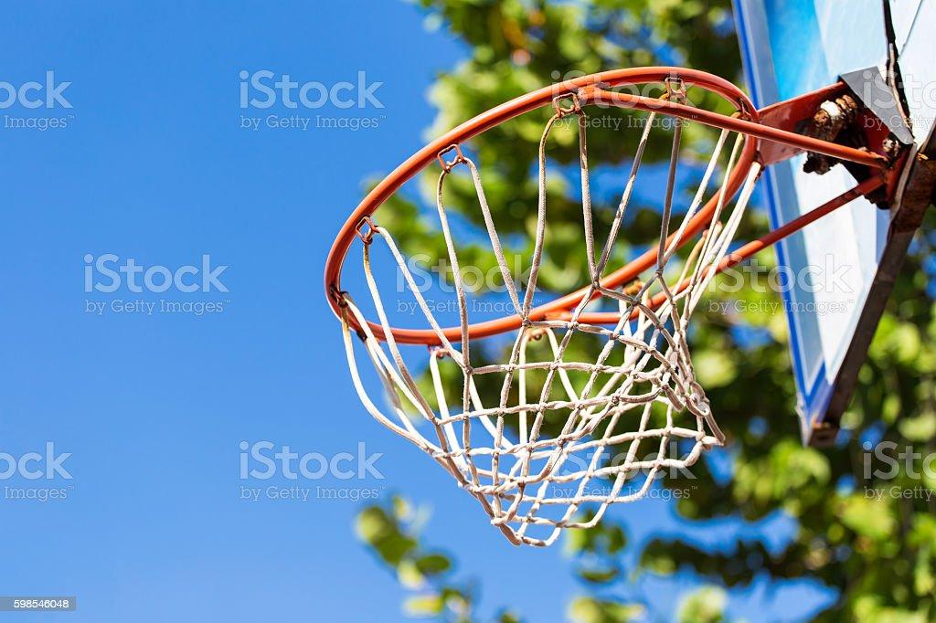 Panier de basket  photo libre de droits