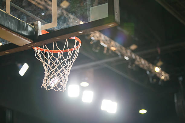 basketball hoop. - basketball ball stock photos and pictures