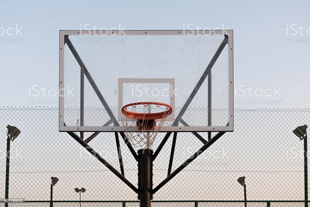 Basketball hoop. stock photo