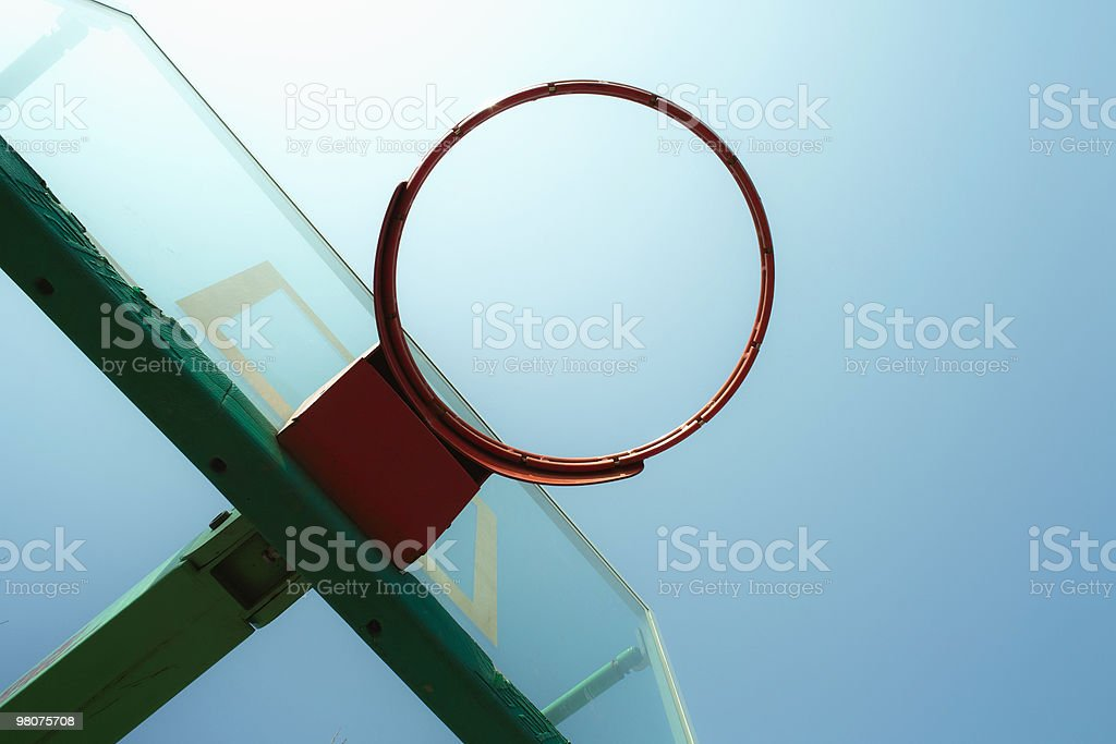 Basketball hoop royalty-free stock photo