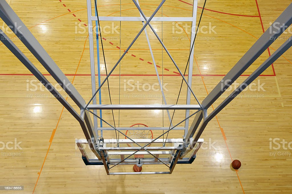 Basketball Hoop Wainting for Balls to Come royalty-free stock photo