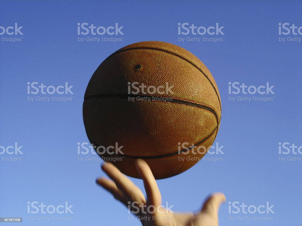 Basketball in Air stock photo