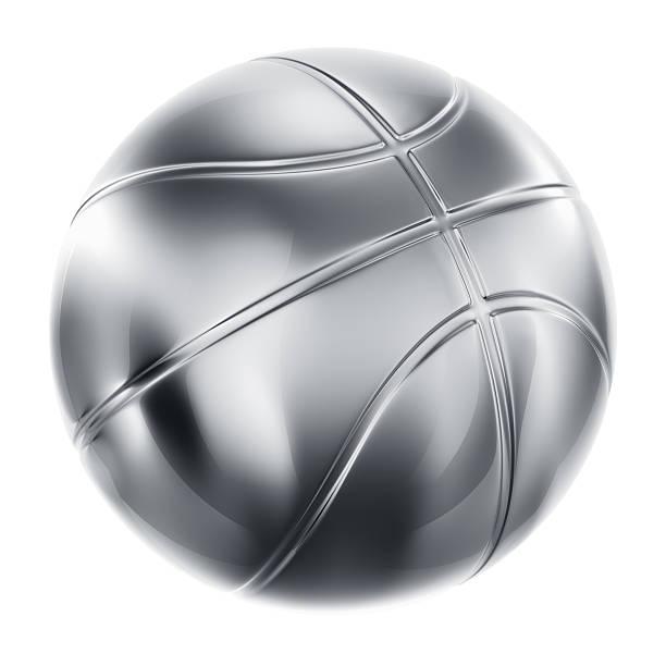 Basketball in Silber – Foto