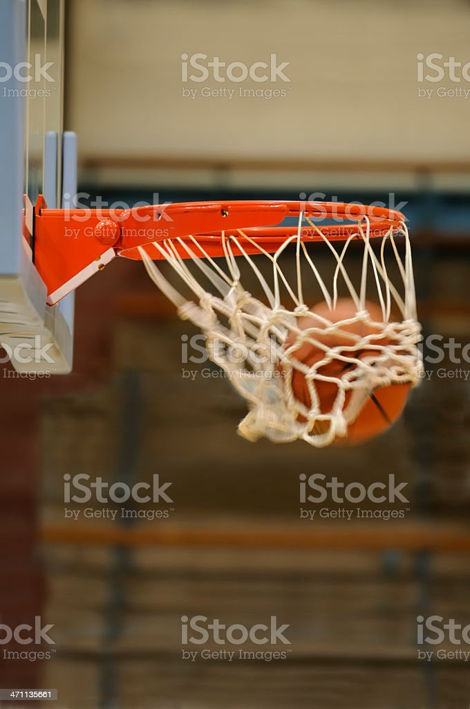 Basketball in the hoop. royalty-free stock photo