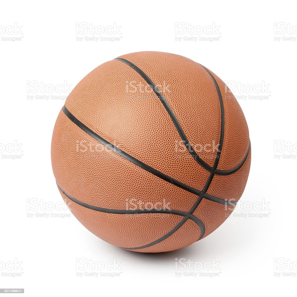 Basketball isolated on a white background. Clipping path included. stock photo