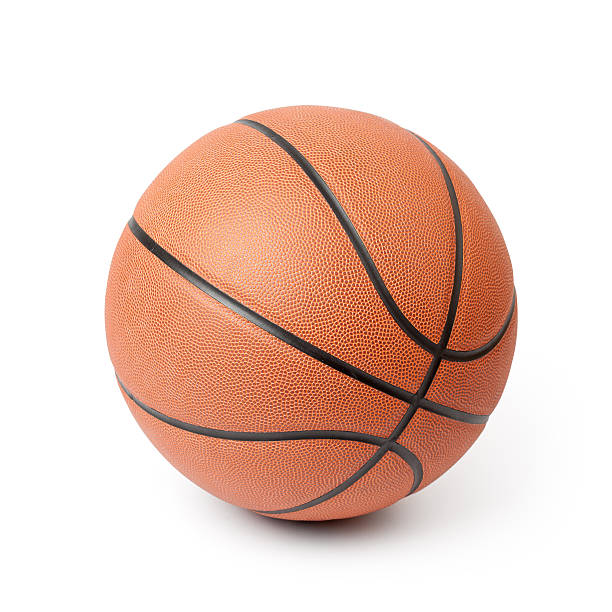 basketball isolated on a white background. clipping path included. - basketball ball stock photos and pictures