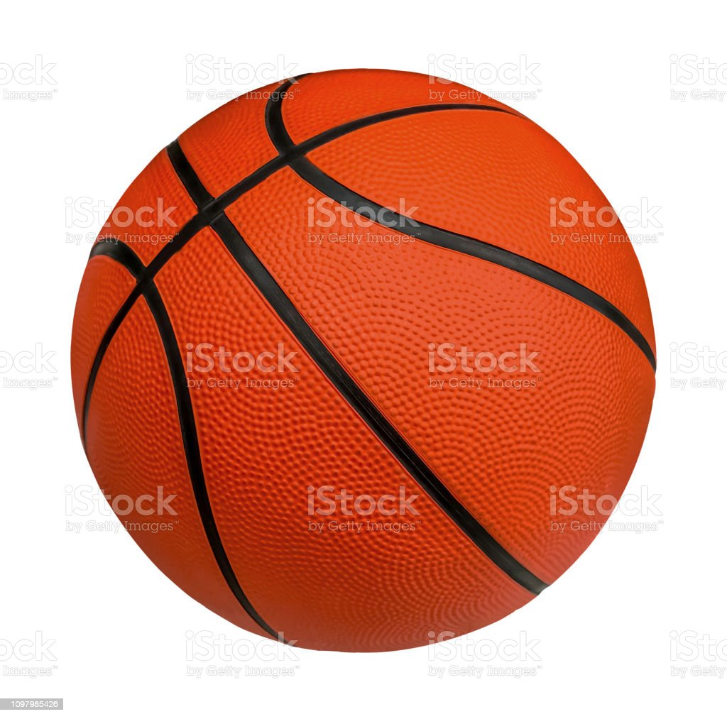 Basketball isolated on a white background with clipping path stock photo