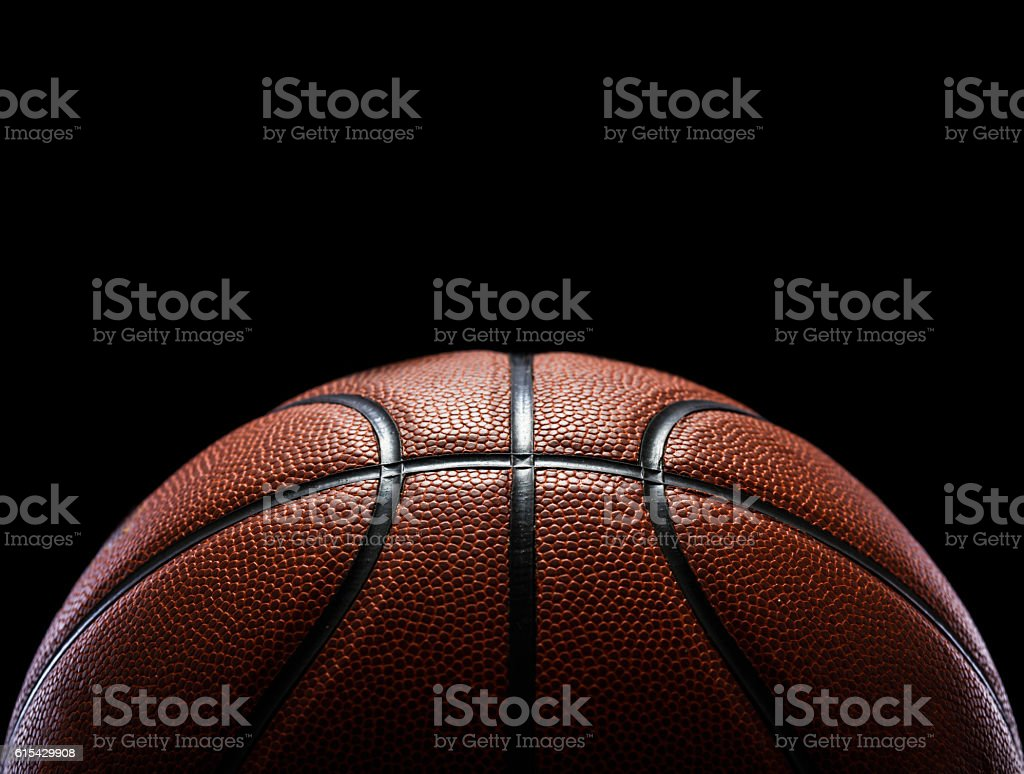basketball isolated on black - foto de acervo
