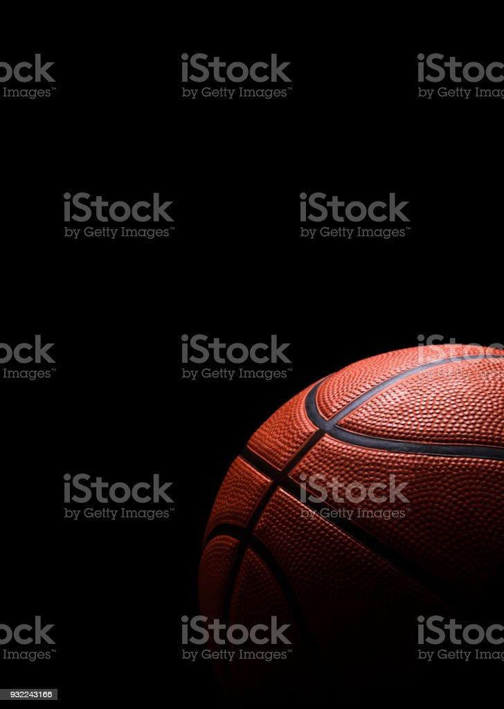 Basketball isolated on black stock photo