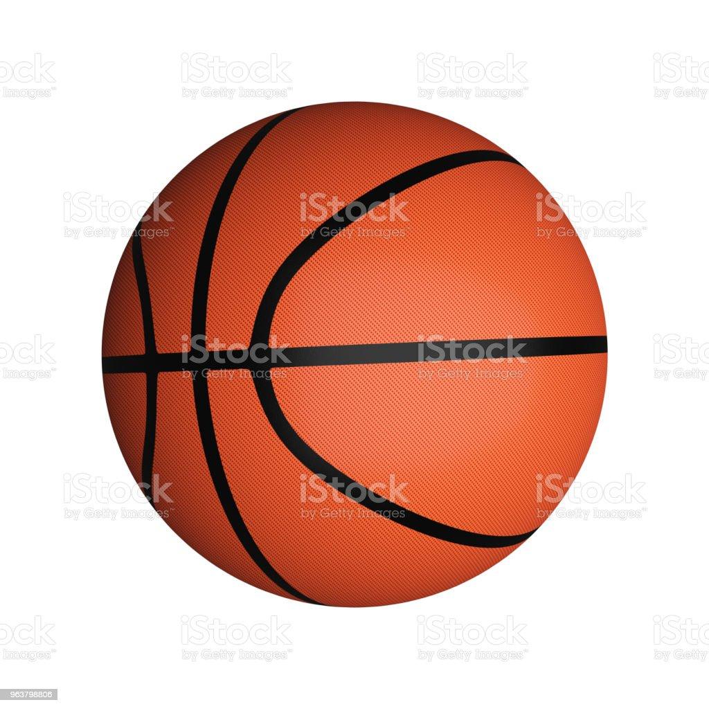Basketball isolated on white background, 3d illustration stock photo