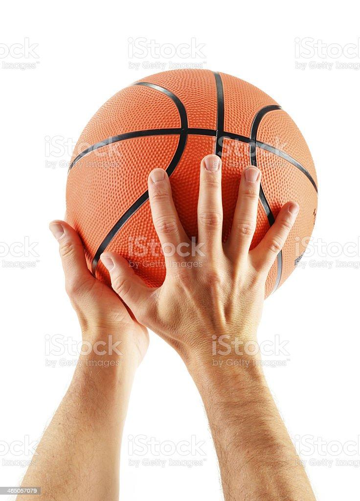 Basketball isolated on white background stock photo