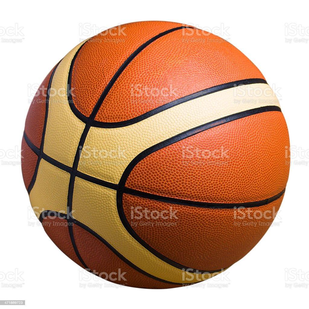 Basketball, isolated on white background royalty-free stock photo