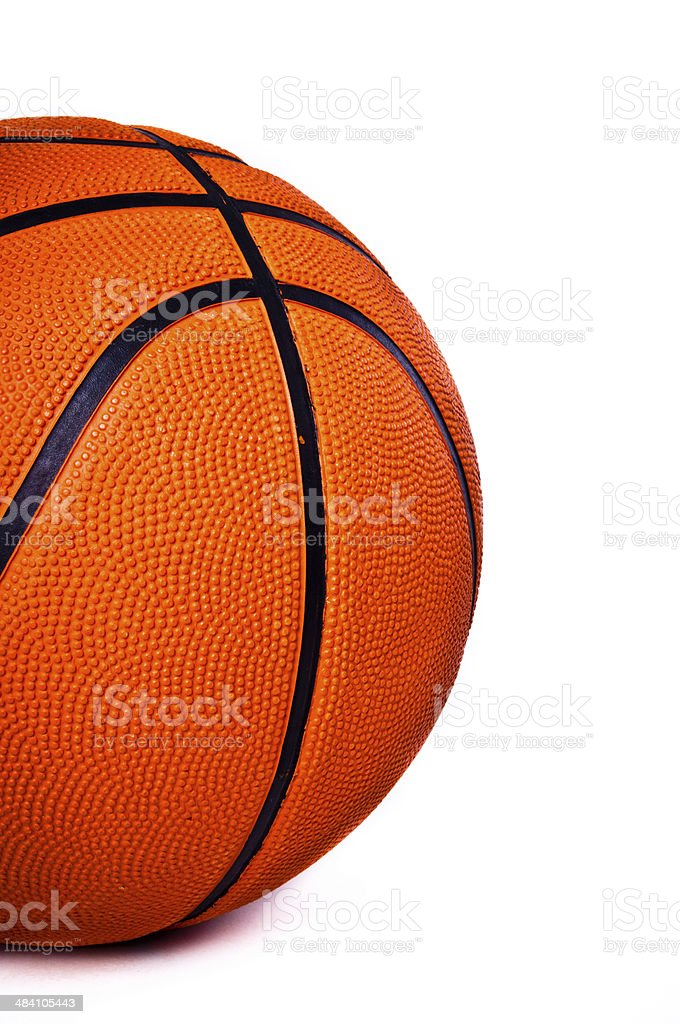Basketball isolated on white background. royalty-free stock photo