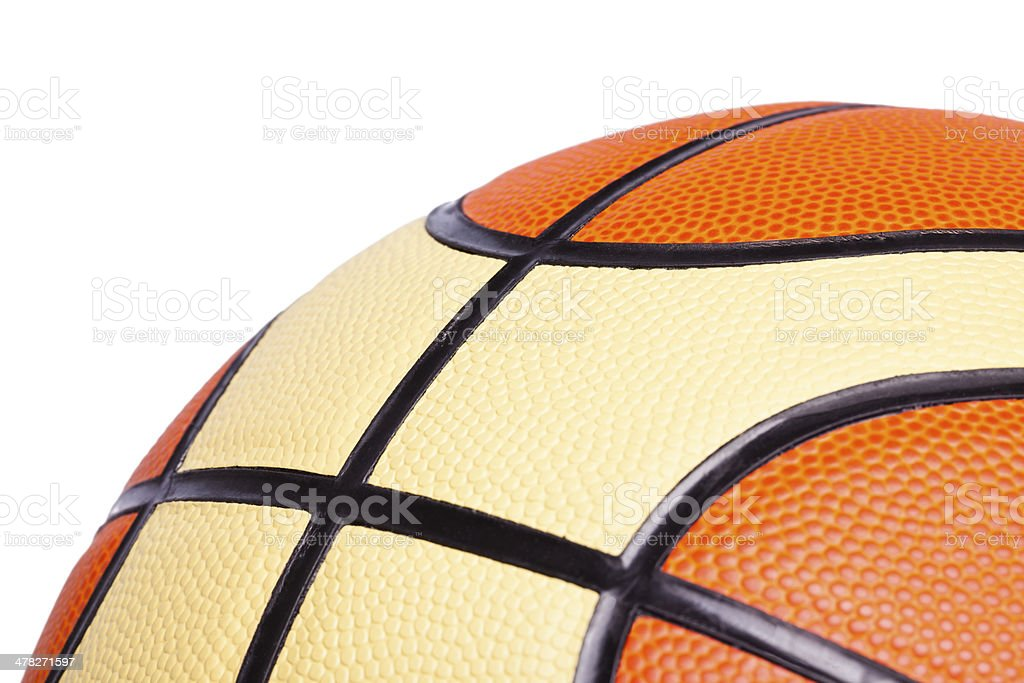 Basketball, isolated on white royalty-free stock photo