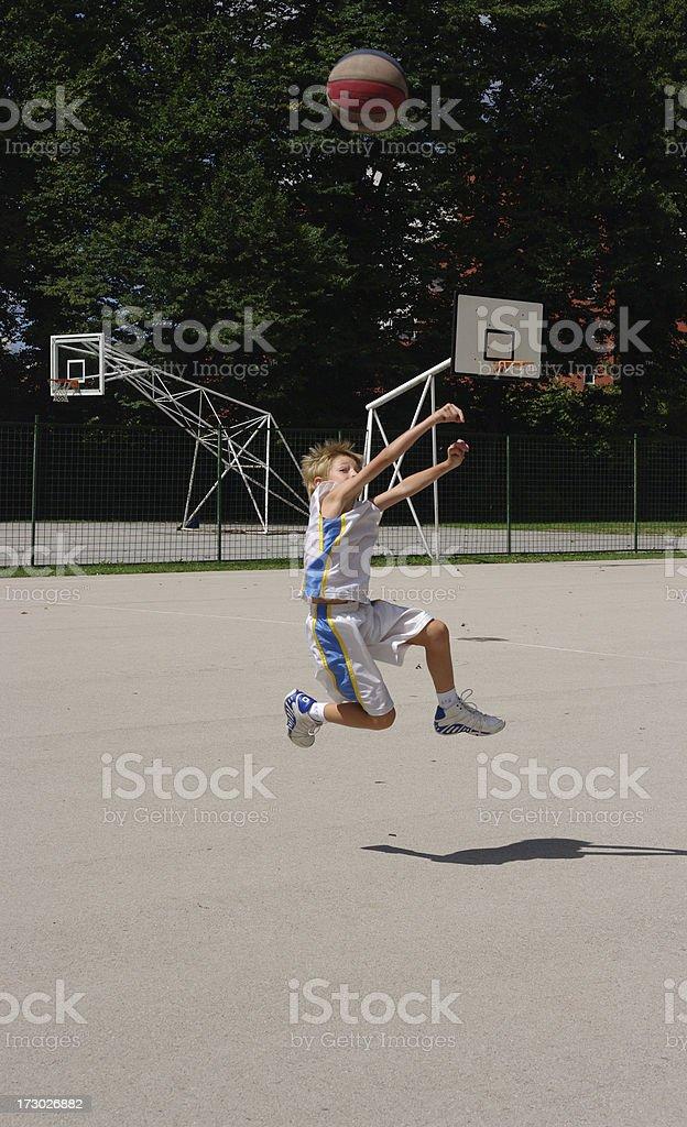 Basketball jump royalty-free stock photo