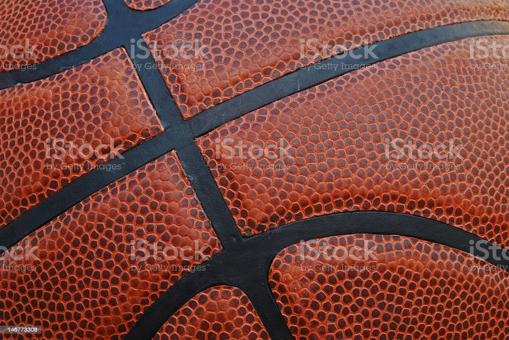 Basketball - Leather Close Up stock photo