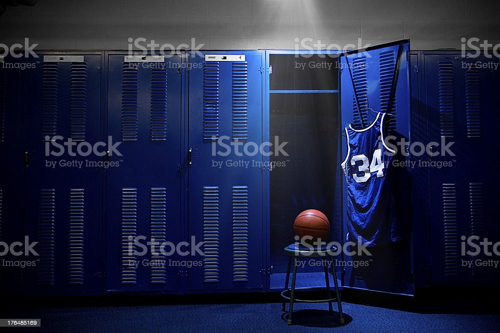 Basketball Locker Room stock photo