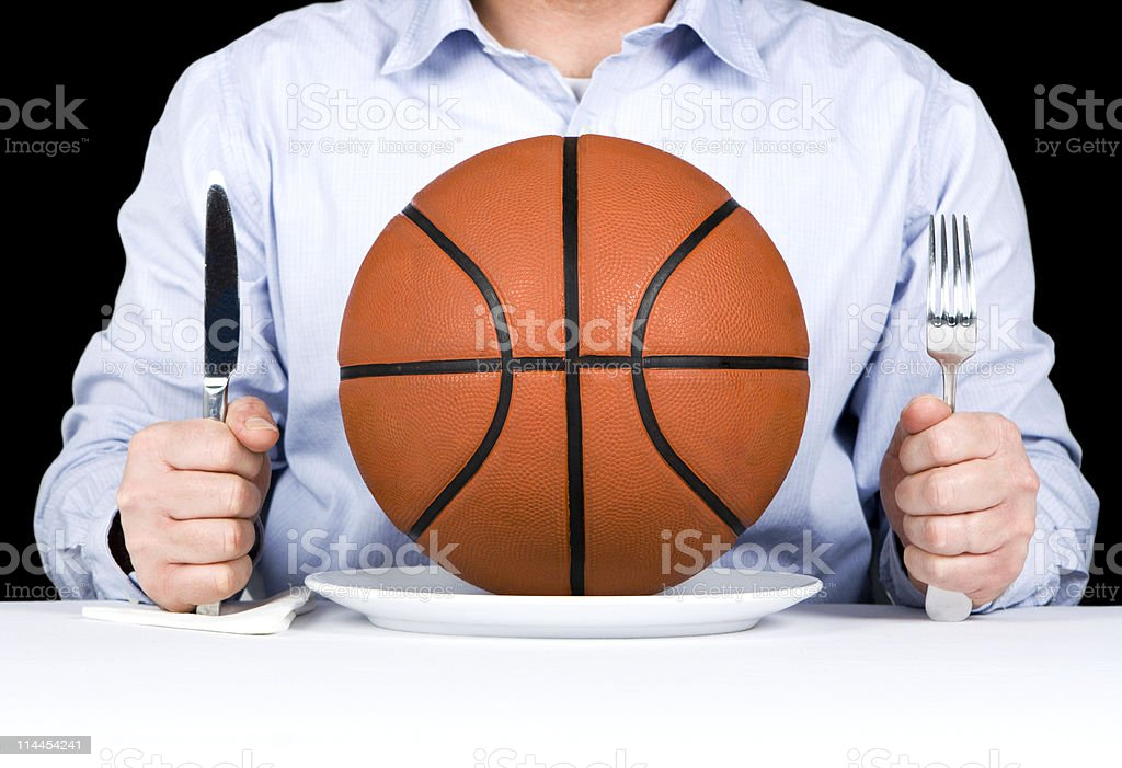 Basketball Main Course royalty-free stock photo