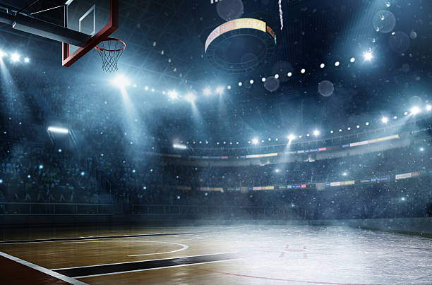 basketball meets ice hockey - basketball hoop stock pictures, royalty-free photos & images