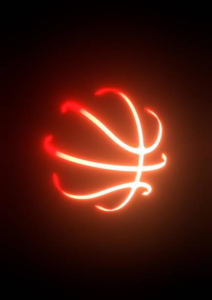 Basketball-Neon 3D-Illustration – Foto