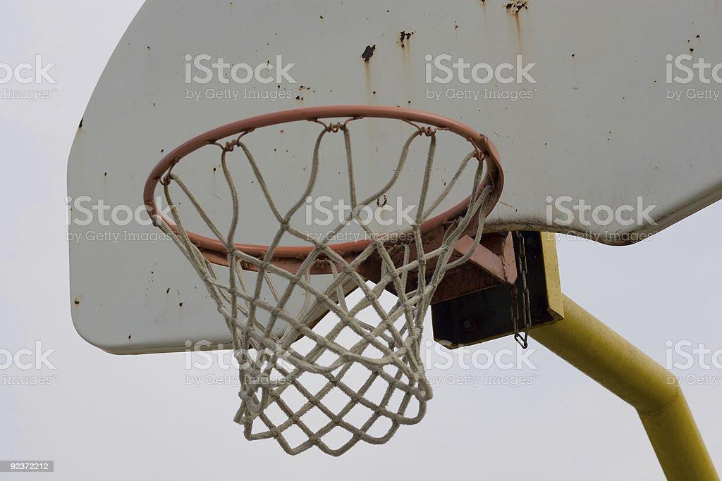 Basketball net and backboard, closeup royalty-free stock photo