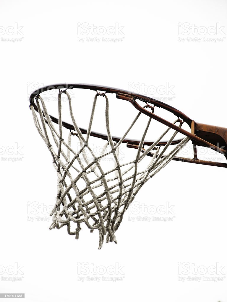 Basketball Net and Hoop royalty-free stock photo