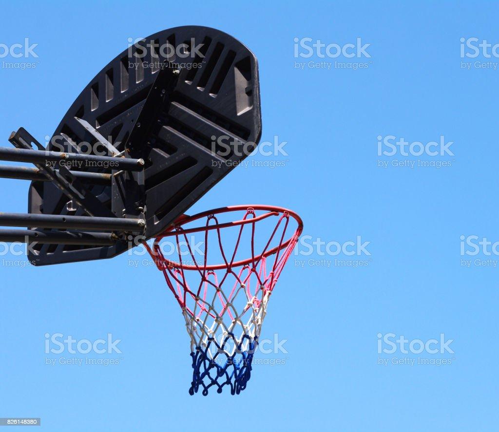 Basketball net outdoor stock photo