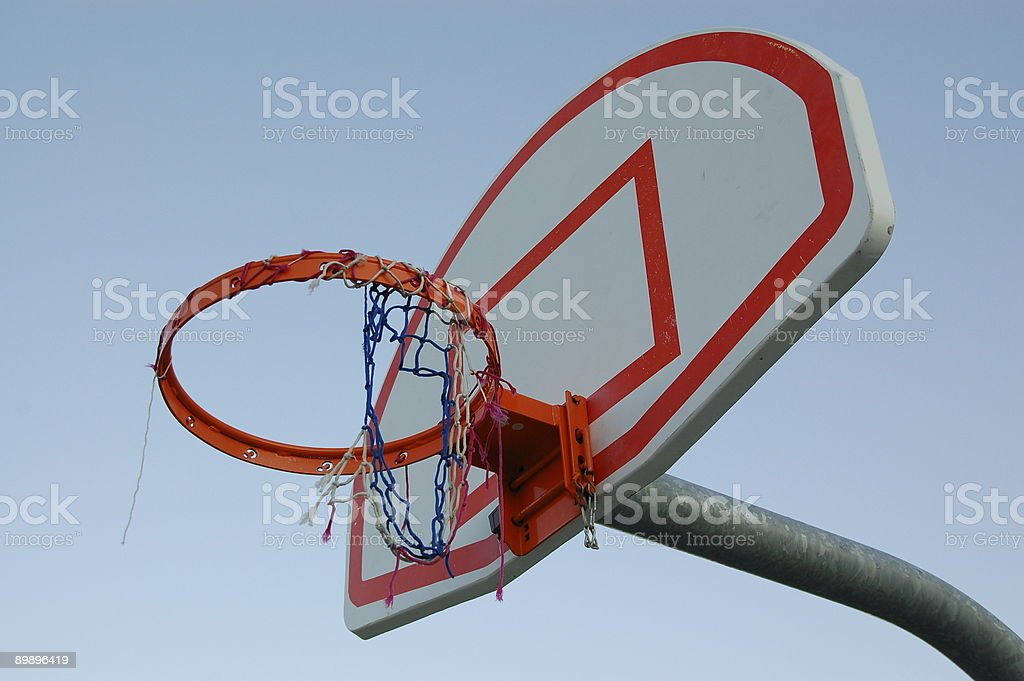 b1c06ee2 Basketball Net With Torn Mesh Stock Photo & More Pictures of Above ...