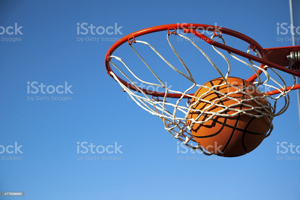 Basketball: nothing but the net stock photo