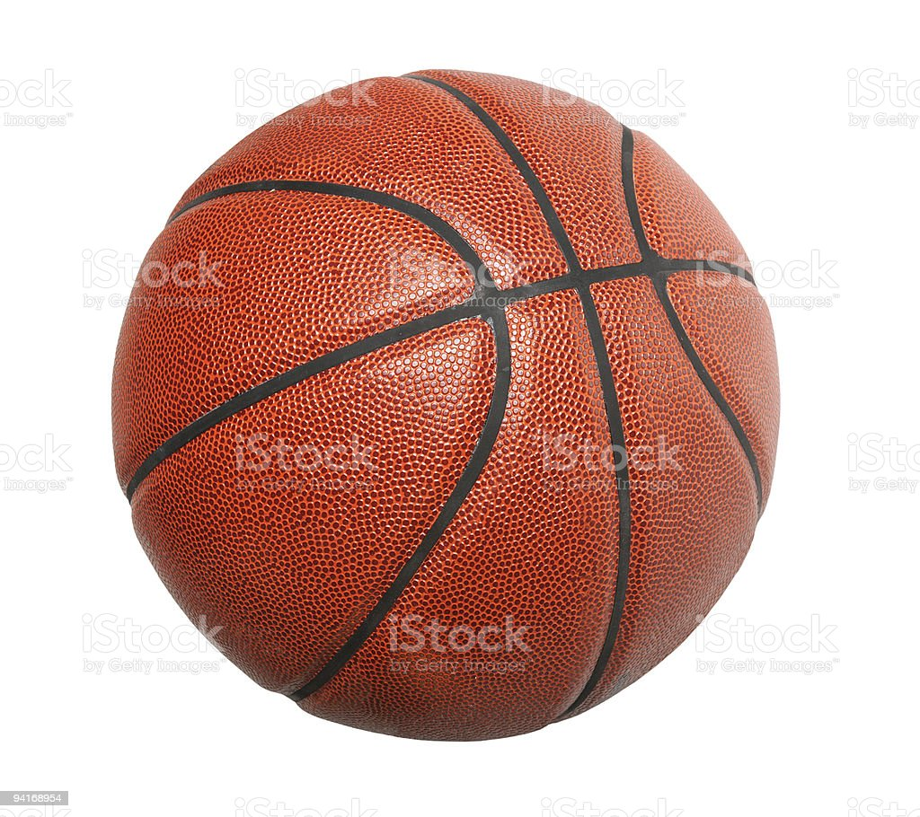 A basketball on a white background royalty-free stock photo