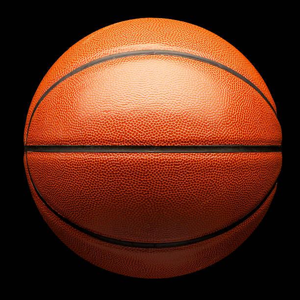 Basketball on Black stock photo