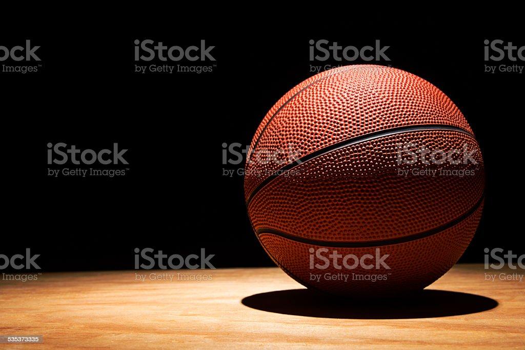 Basketball on Hardwood 2015 stock photo