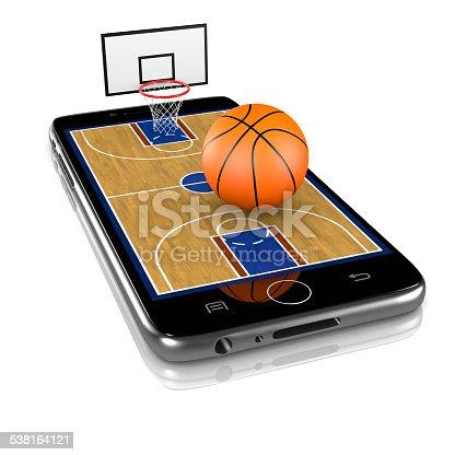 952196272 istock photo Basketball on Smartphone, Sports App 538164121