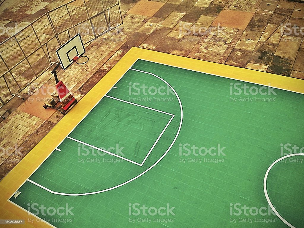 Basketball Outdoor Court royalty-free stock photo