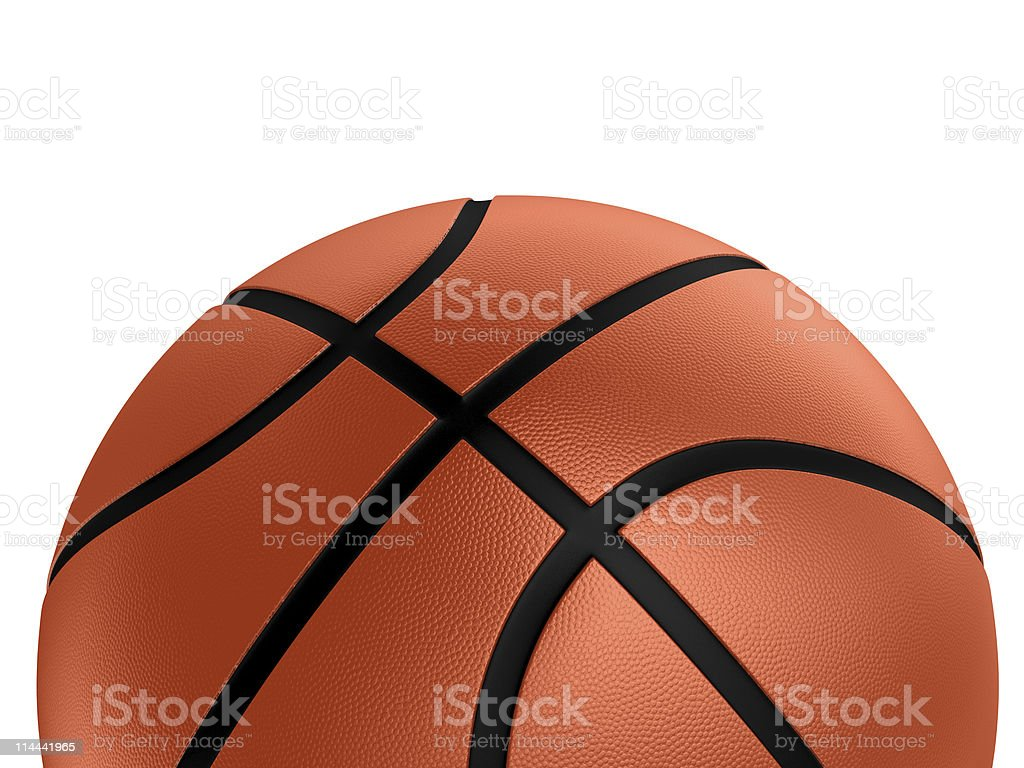 Basketball over white royalty-free stock photo