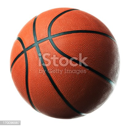 Basketball isolated on white background.