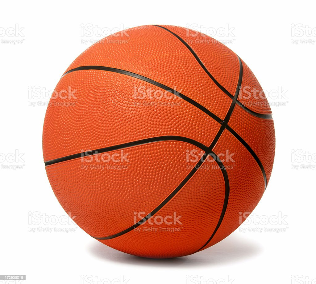 Basketball (on white) stock photo