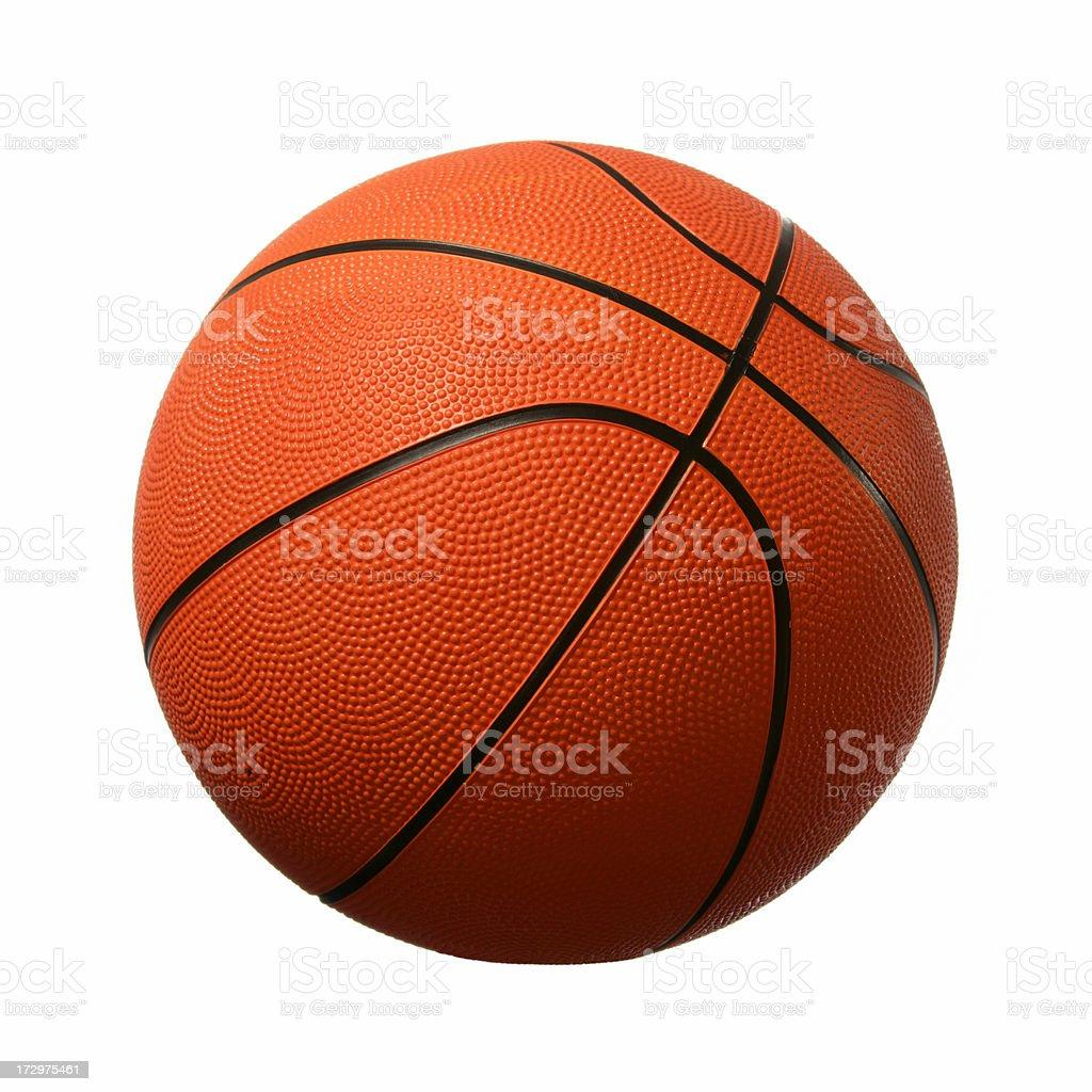 Basketball (on white) stock photo