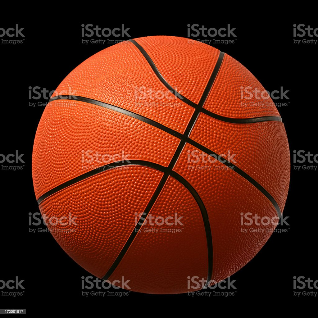 Basketball (on black) royalty-free stock photo