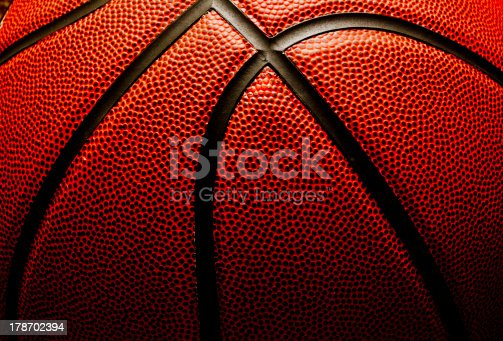 Abstract close up of basketball