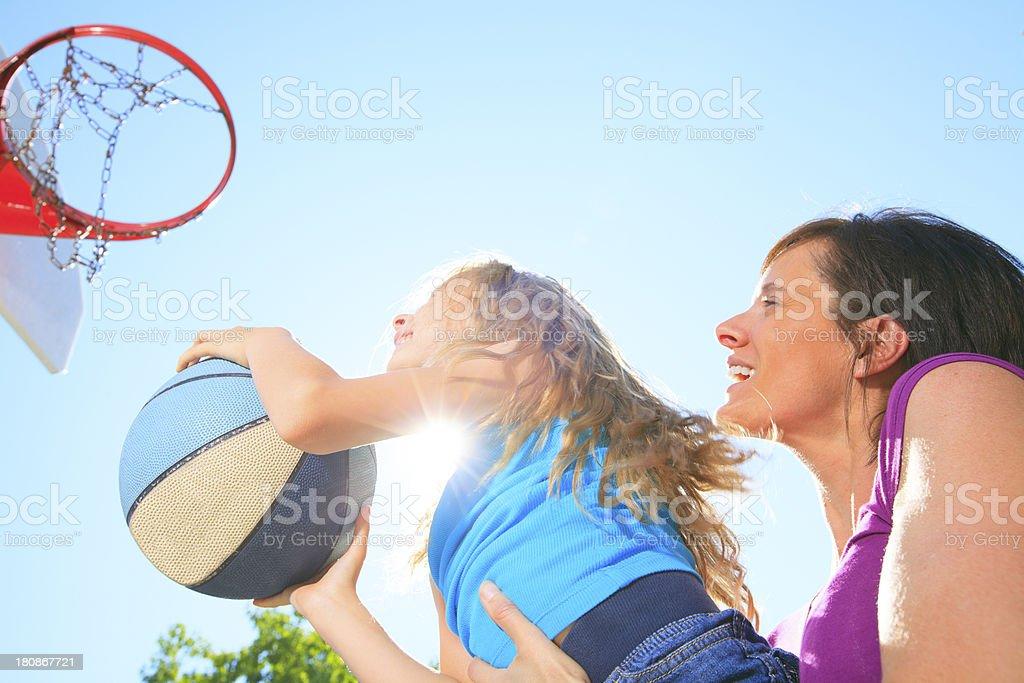 Basketball - Pitch Back Lit royalty-free stock photo