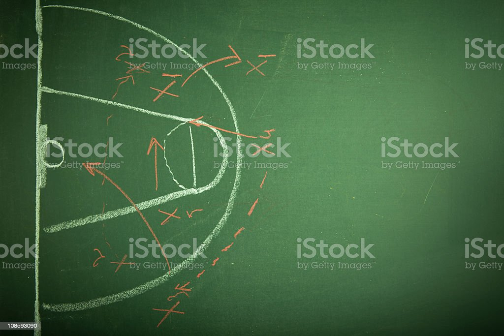 Basketball plan stock photo