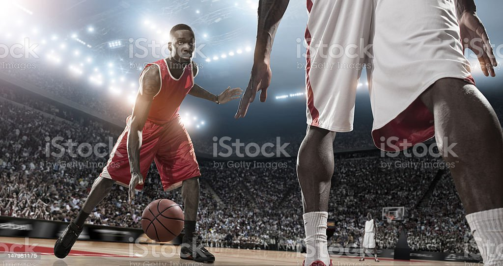 Basketball Player Action royalty-free stock photo