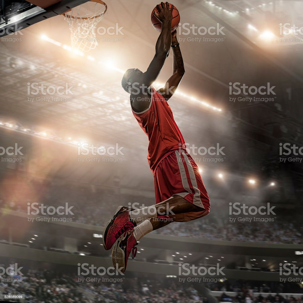 Basketball Player Action stok fotoğrafı