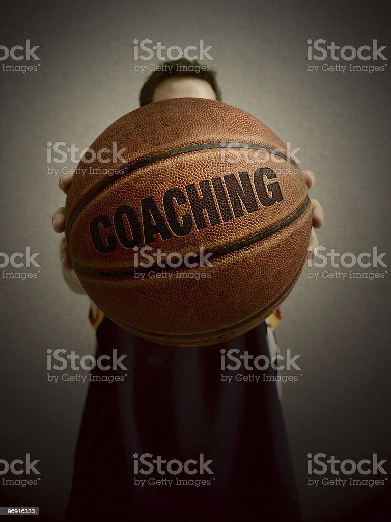 basketball player coaching royalty-free stock photo