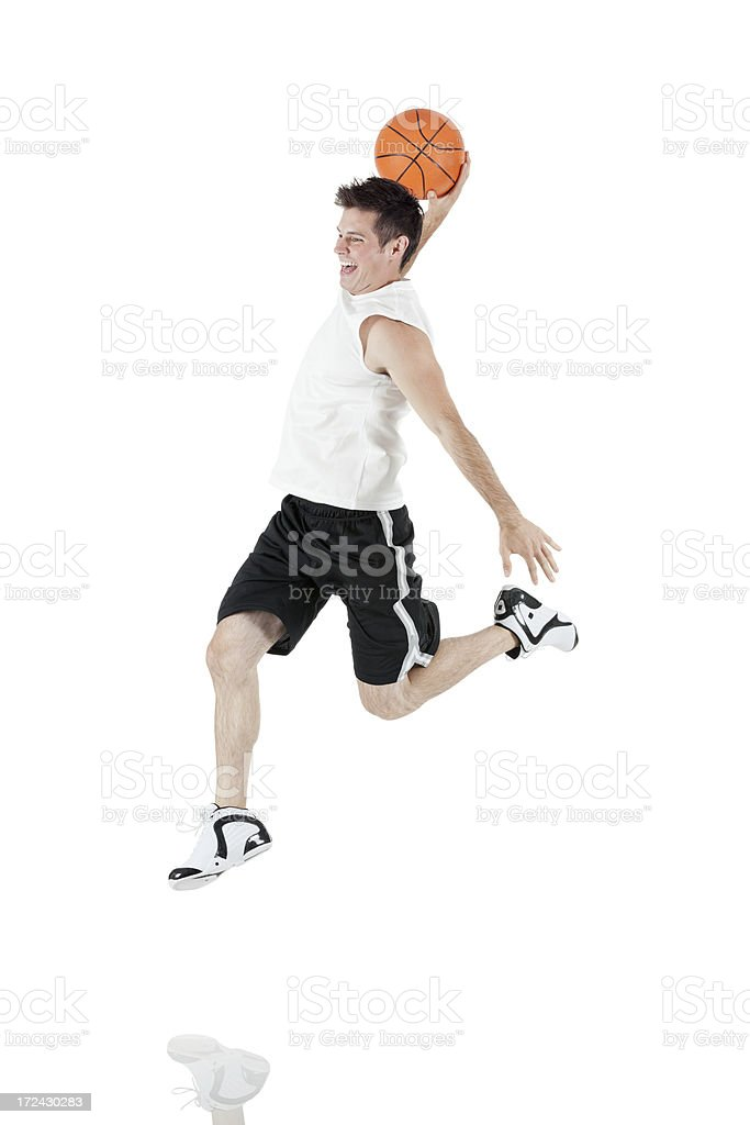 Basketball player in action royalty-free stock photo