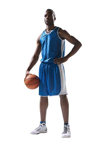Basketball player isolated