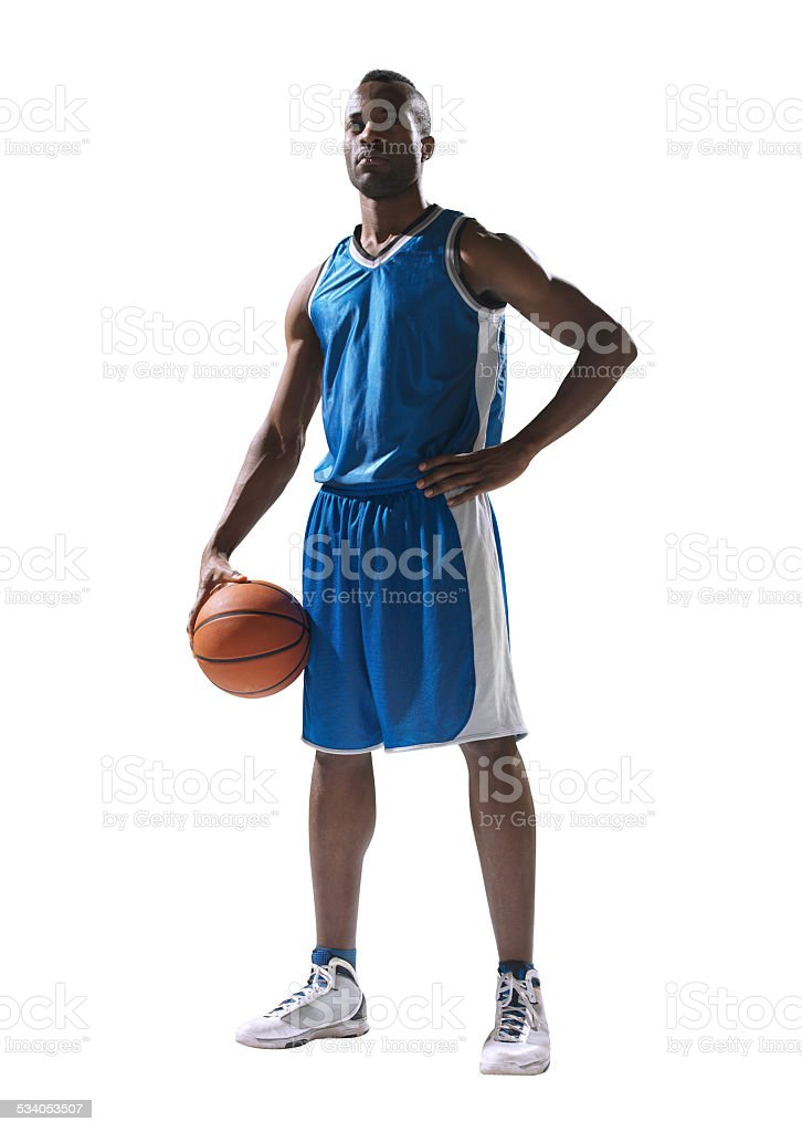 Basketball player isolated stok fotoğrafı