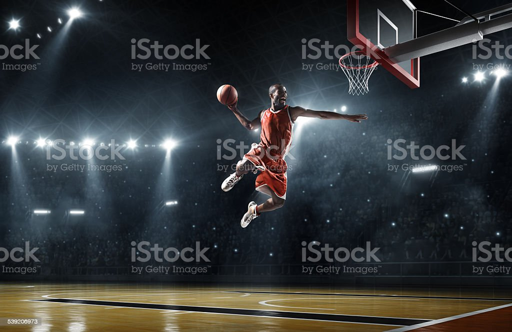 Joueur de basket-ball Offre slam dunk - Photo